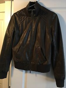 Mackage bomber leather jacket