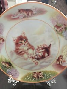 Decorative cat plates (4 in total)