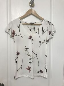 Dynamite, Floral Print, Butterfly Sleeved, T - Shirt