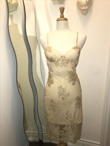 Beige Night dress with lace layer