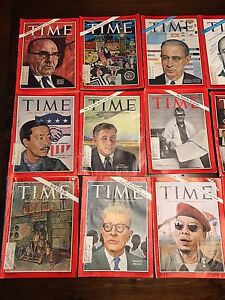 70  vintage time magazines- best offer saturday takes them all