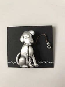 Chelsea pewter dog pin
