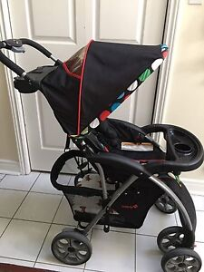 Safety First Saunter Travel System Stroller With Rain Cover