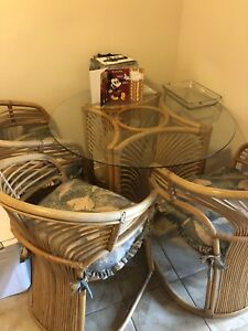 Bamboo Table and 4 Chairs