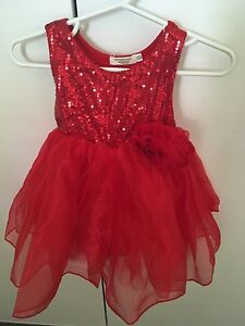 Baby girl red dress size 0 Falcon Mandurah Area Preview