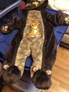 3-6 month lion king snow suit