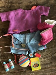 American girl camping outfit set with accessories