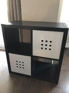 "IKEA 30""x30"" cube cabinet with two shelf inserts"