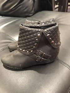 Studded Black Ankle Boots