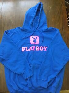 Customized Blue and Pink Playboy Bunny Sweate