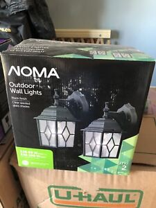 Noma 2 pack outdoor wall lights.