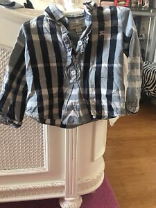 Burberry shirt with ruffle size 18 month perfect condition