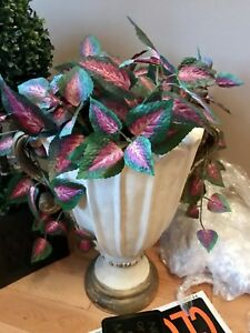 Gorgeous large flower vase with plant $50 retail$148.99