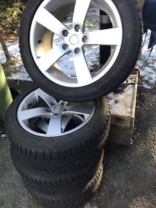wheels and snow tires