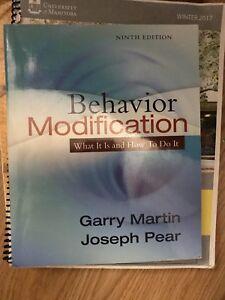 Behaviour modifications