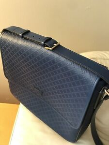 94cf5412270 100% Authentic Gucci Blue Diamante Leather Laptop Messenger