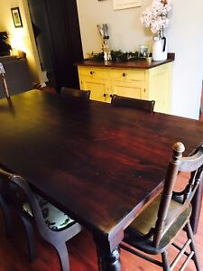 Beautiful Table and Antique Chairs