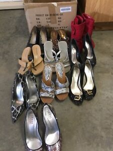 Large selection of ladies shoes, size 6 to 7,