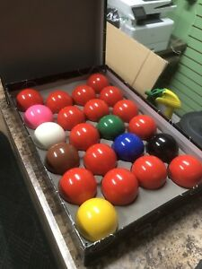 "Snooker balls 2 1/16"" full set used"