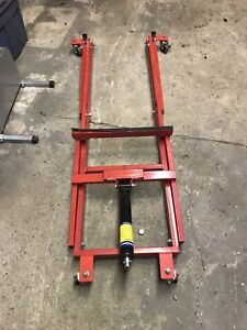 Snowmobile lift and stand