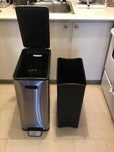 Large Stainless Steel Trash Can