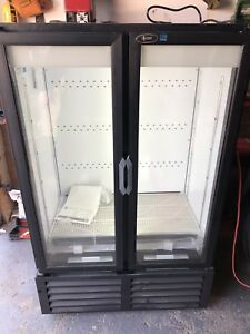 BRAND NEW COMMERCIAL REFRIGERATOR DOUBLE DOOR LED LIGHTS