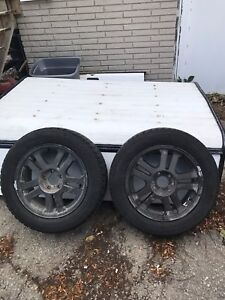 4 artic claw winter tires on rims