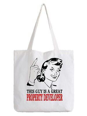Property Developer Tote Bag Shopper Best Gift Great House Designer Architect