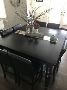 Beautiful high end antique finish dining set