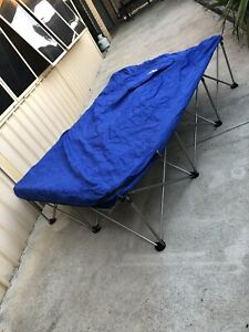 Double camping frame and self inflating mattress