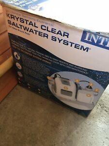 Intex pool filter and salt water system used 2 years only