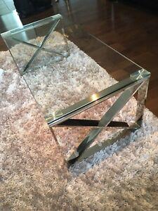 Glass coffee table & sofa table