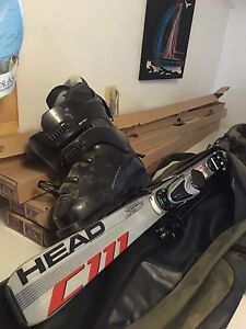 Downhill ski's, bag and boots