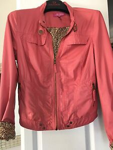 Veste simili cuir rose