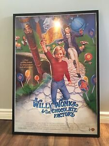 Huge Framed Willy Wonka and the Chocolate Factory Movie Poster