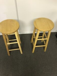 """Two 29"""" stools"""