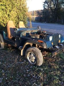 YJ Jeep Tub and Frame