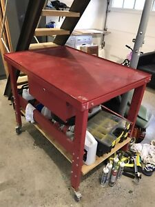 Tear down table work bench with drain - princess auto