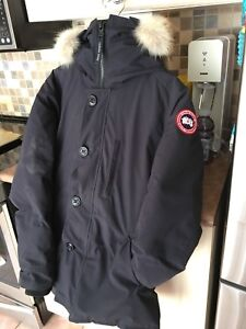 Men's Canada Goose Chateau Parka Navy Blue Medium MINT