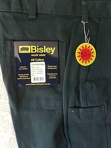 BISLEY BNWT WORKWEAR GREEN  DRILL TROUSERS 97S Armidale Armidale City Preview
