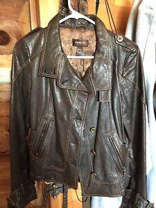Danier leather jacket brown