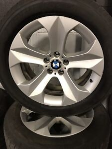 Set of Michelin all season tires on BMW factory rims. 255/50R19