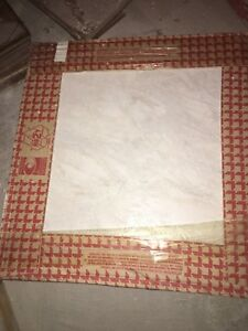 Cream floor tile , 13 x 13 ,