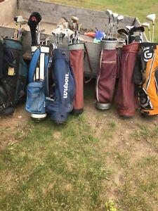 Various golf clubs. See description