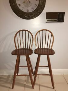 Two wooden stools