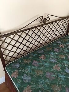 King size mattress with bed frame