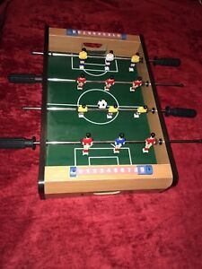 Miniature table top Foseball game excellent condition