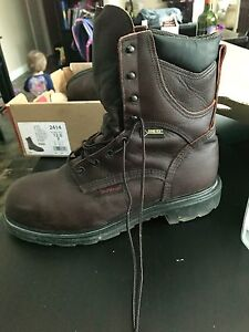 Size 12 red wings work boot new