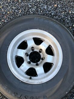 """Toyota 6 stud alloy mags 15"""" Tyres 31"""" Hilux LandCruiser"""