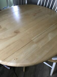 Wooden Folding Dining Room Table OBO